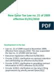Qatar Tax Law 2009
