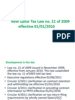 Qatar Tax Law 2009