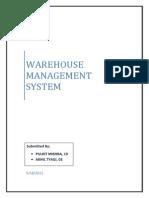 72332868 Warehouse Management System