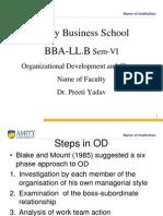 Steps Involved in OD