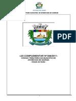 Lei Complementar N 046-2011 - Institui o Codigo Tributario Do Mun. de Aparecida de Goiania-GO