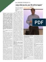 Fermín Cilveti-Article (A3 Magazine Design)