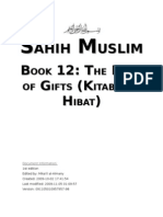 Sahih Muslim - Book 12 - The Book of Gifts (Kitab Al-Hibat)