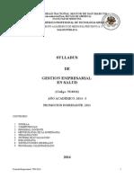 Syllabus Gestion Empresarial en Salud - 2014