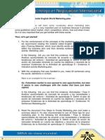 Guide English World Marketing Plan