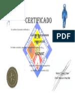 Certificado Hazmat