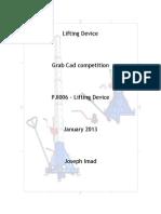 PJI006- Lifting Device- GrabCad Comp. Jan 2013