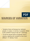 Sources of Variation