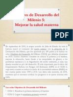 Objetivo de Desarrollo del Milenio 5.pptx
