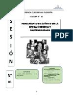 MÓDULO 3 - Filosofía en La Edad Moderna y Contemporánea
