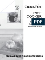 Crockpot Rice Cooker with Steam Basket Instruction Manual CKCPRC4725, 