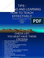 Tips on How to Teach Effectively