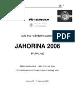 Pravilnik Trke Jahorina 2006