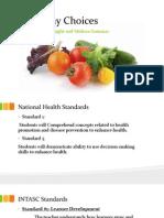 health lesson plan healthy choices 1