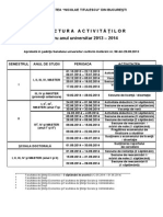Structura Universitara 2013 2014