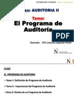CLASE- El Programa de Auditoria