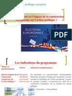 Thème 7 Quel Est l'Impact de La Construction Européenne Sur l'Action Publique
