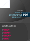 What is Contrastive Analysis