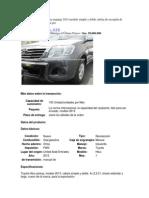 Camioneta Toyota Hilux Mod 2013