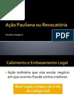 Ação Pauliana ou Revocatória.pptx
