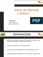 Diapositivas Cascara de Naranja y Etanol