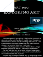 evon hanson portfolio