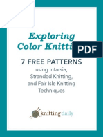 7 Free Color Knitting Patterns (1)