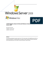 TCP/IP Registry Values for Microsoft Windows Vista and Windows Server