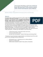 SLA2014Final_RindraRamli_Study on the use of Facebook RSS Blogs Twitter239840141307482740824708274004981048308740870421743723410234713274108374013742183741083740740921841