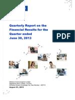 RCOM 1 Q FY 14 Qrtrly Report