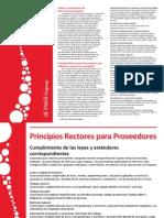 Principios Rectores Coca Cola