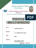 Tipos Basicos de Planes y Jerarquia de Los Planes Organizacionales