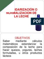 Estandarizacion y Normalizacion de La Leche Arreglada