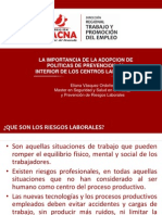 Adopción de Políticas de Prevención de Riesgos Laborales - Mstr. Eliana Vásquez