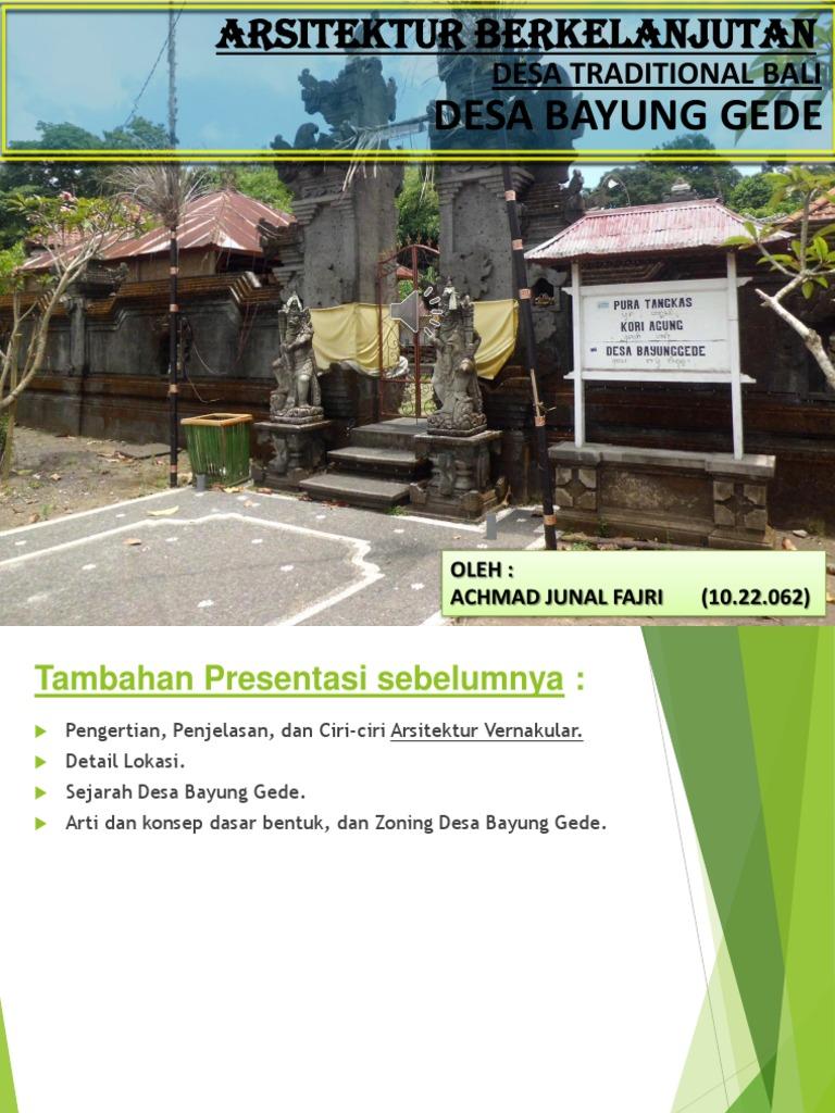 Sekilas Tentang Desa Adat Tradisional Bali Desa Wisata