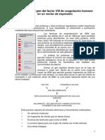 Clonación Del Gen Del Factor VIII de Coagulación Humano