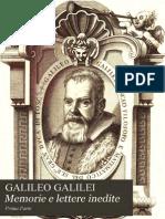 Galileo Galilei - Memorie e Lettere Inedite Parte I