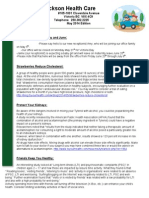 Frackson Chiropractic Clinic Newsletter