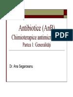 Curs Antibiotice Dr. Ana Segarceanu 18 May 2012