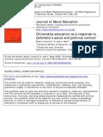 Jaramillo Et Mesa 2009 Citizenship Education as a Response to Colombia s Social and Political Context