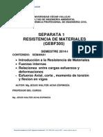 Semana 1 2014 Enero Introduccion a La Resistencia de Materiales