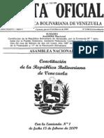 Constitución Con Enmienda 2009 y Exposicion de Motivos