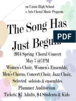 Fullerton High Spring Choral Concert 2014 Print-Your-Own Poster