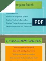 Marijean Smith Classroom Rules