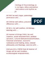 Architectonic of Logos Ethos Pathos Cosmos Mythos