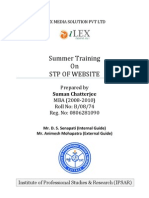 STP of Website-Suman Chatter Jee