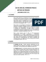 ASTM C231 Determinacion de Aire Metodo Presion