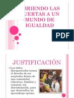PROYECTO EXPERIENCIAS EXITOSAS EN EDUCACION INCLUSIVA UGEL 05