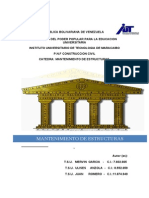 Mantenimiento de Estructuras. Mgs.