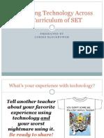 integrating technology across the curriculum of set